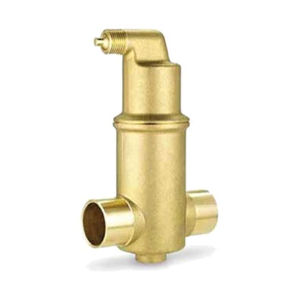 "Spiral Air Eliminator Micro Bubble Separator 1/"" Sweat  RaVent Jr"