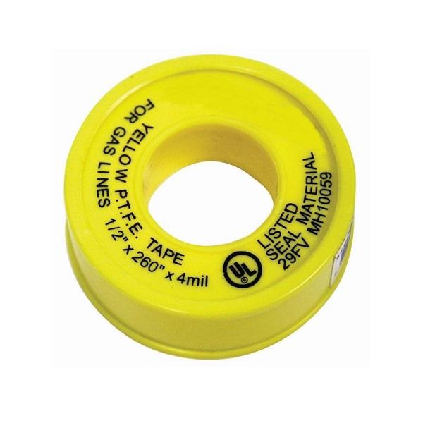 Yellow Propane, Natural Gas Line Teflon Tread Seal Tape