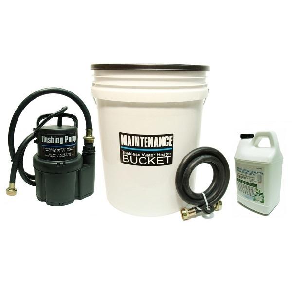 tankless water heater flushing, descaling kit
