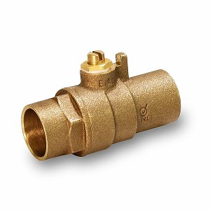 "1"" Sweat Brass Ball Valve with Screwdriver Slot 600psi WOG - 620S001-NL"