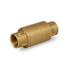 "3/4"" Threaded Spring Loaded Inline Check Valve Brass Lead Free - 150C034-NL"