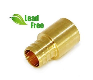 "1/2"" PEX x 1/2"" Male Copper Fitting Adapter (Lead-Free)"