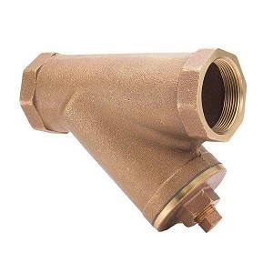 "1 1/2"" NPT Threaded Bronze Y-Strainer with Plug (Wye Strainer) - 100T112-NL"