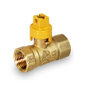 "1/2"" Gas Ball Valve With Screw Driver Slot - S4512"
