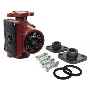 "Grundfos UPS15-58FRC 3-Spd Circulator Pump,IFC 59896343 With 1"" Black Flanges"