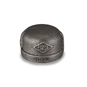 "2"" BLACK PIPE CAP - P6659"
