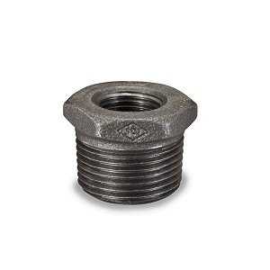 "2 1/2"" X 3/4"" BLACK HEX BUSHING - P6755"
