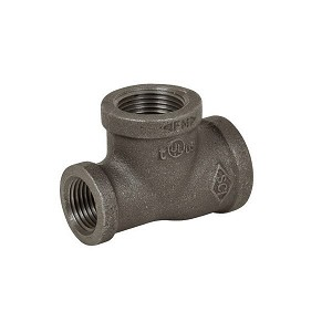 "3/4"" x 1/2"" x 1/2"" Black Reducing Tee - P6597"
