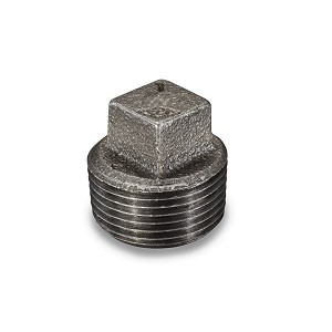 "1/8"" Black Square Head Plug - P6783"