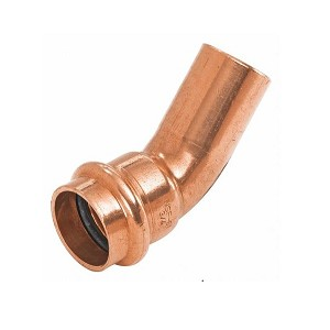 "1/2"" Propress Copper 45 Degree Street Elbow (P x FTG)"